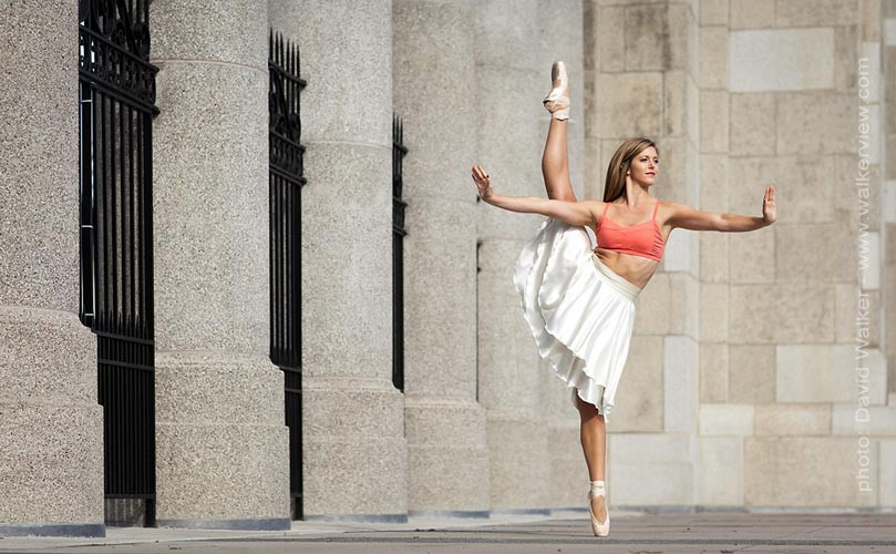 Professional Dancer at Exhibition Place. Toronto Canada dance photgraphy by David Walker.