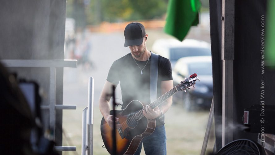 Chad Brownlee backstage Toronto Canada photographer David Walker